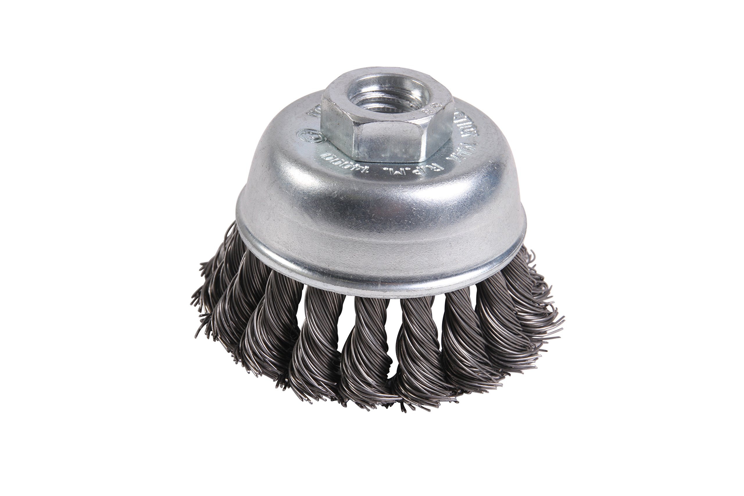 Mercer 189011B Premium Knot Cup Brush 2-3/4'' x 5/8''-11 For Angle Grinders, 10-Pack