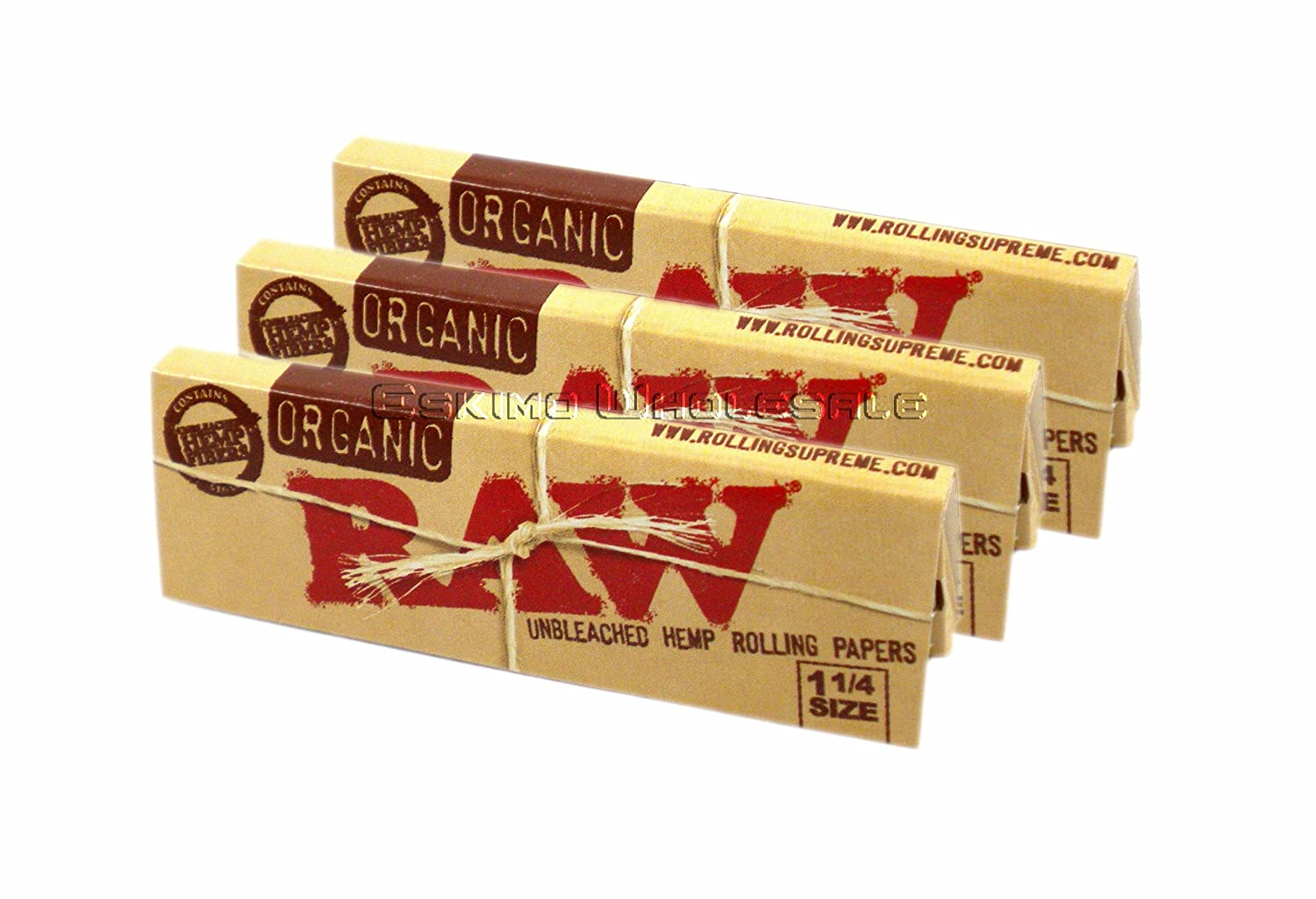 RAW Organic Unbleached HEMP 1¼ Rolling Papers 3 Pack [Health and Beauty] Quality Deals No Model