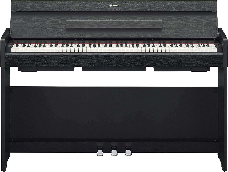 Yamaha Arius YDP-S34 - Piano digital moderno y elegante para estudiantes o aficionados, adecuado para cualquier rincón de la casa, color negro nogal