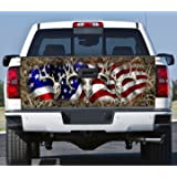 Truck Tailgate Wrap Decal Deer Skull Flag Grass Camo 3m Cast 10 Yr Vinyl Laminated