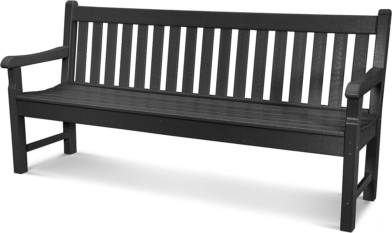 POLYWOOD RKB72BL Rockford 72 Bench, Black