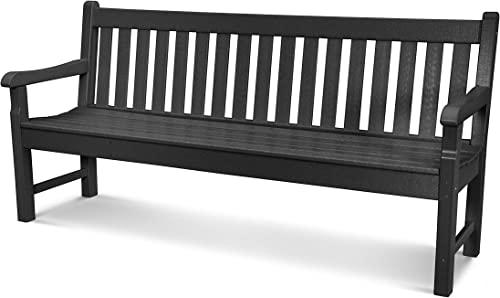 POLYWOOD RKB72BL Rockford 72 Bench, Black
