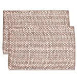 sweet home collection tendencias dos tonos 100% tela de algodón mantel individual