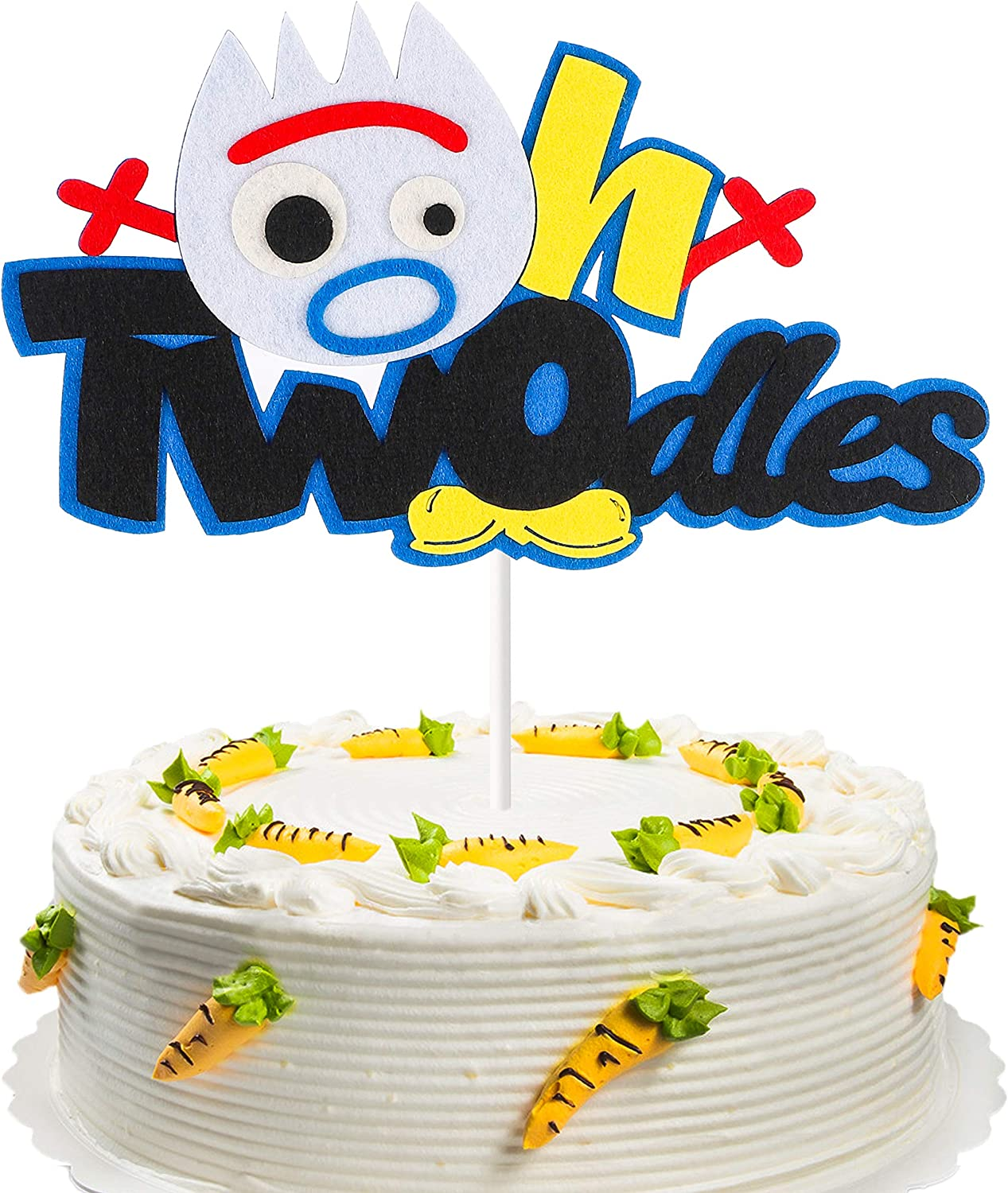 Awesome Amazon Com Mallmall6 Fork 2Nd Birthday Cake Topper Toy 4Th Themed Funny Birthday Cards Online Alyptdamsfinfo