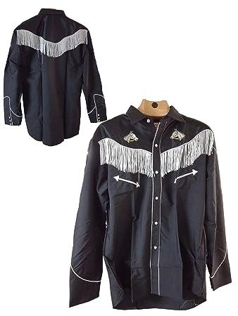 sito affidabile 65eb3 f1195 Umbria Equitazione Camicia Western Texana da Cowboy con Frange (XL ...