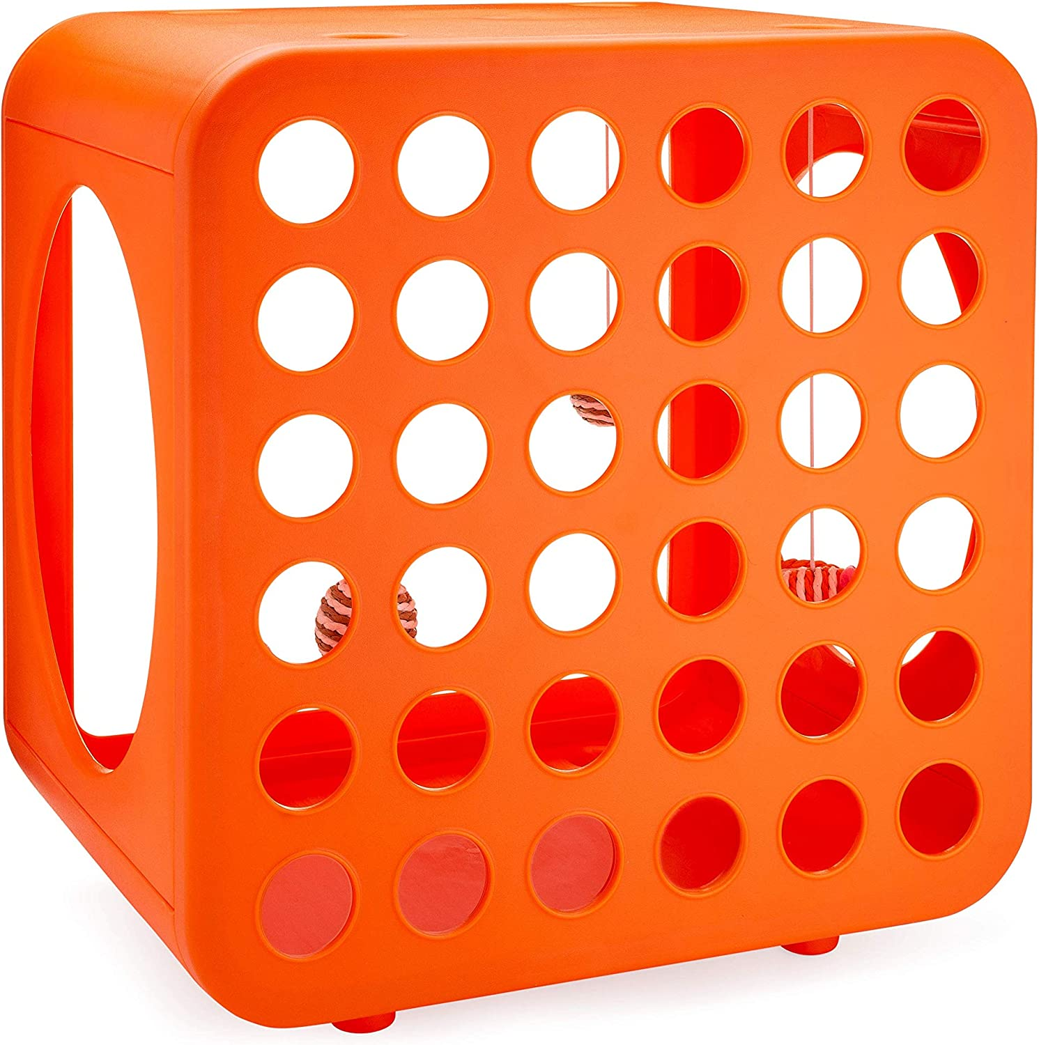 Kitty Kasas Standard Snap-On Modular Cat House, Recreation Cube Orange