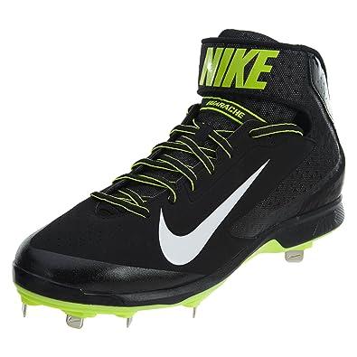 d52993f1c7893 Amazon.com   Nike Huarache Pro Mid Metal Black/White-Volt Mens Style ...