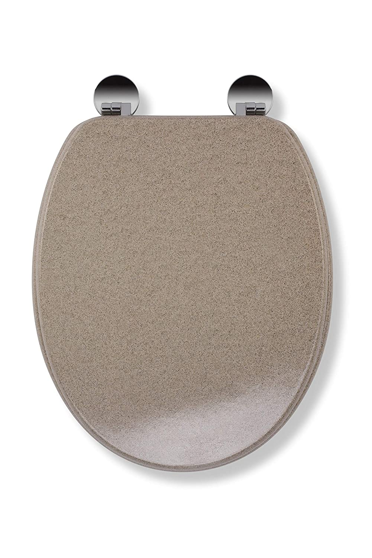 45 x 37.5 x 6 cm Croydex Flexi-Fix Dove Always Fits Never Slips Toilet Seat Wood Granite