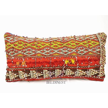Amazon Sale Unique Vintage Moroccan Decorative Pillow Red Best Red And Blue Decorative Pillows