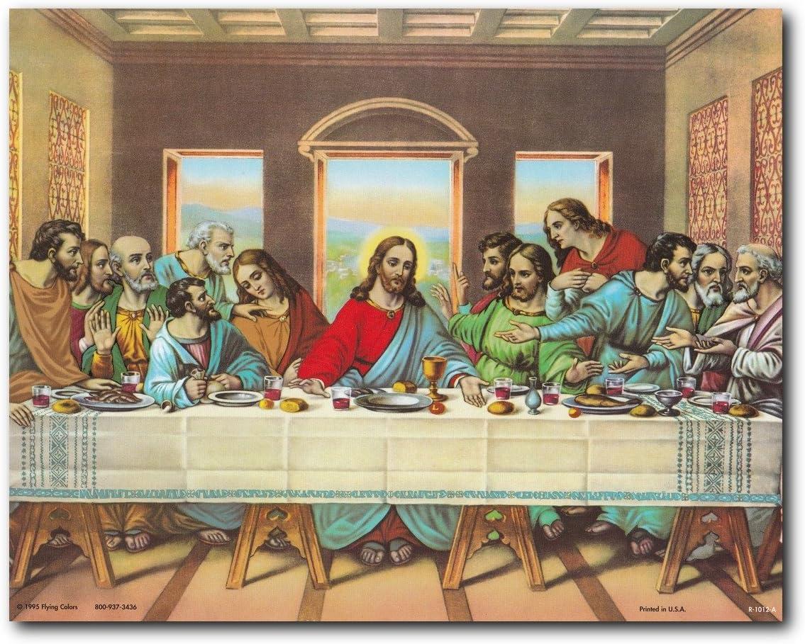Painting Reproduction 16x20 in Jesus Christ Art Print//Poster//Leonardo Da Vinci