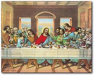 Wall Decor Jesus's Last Supper Religious & Spiritual Art Print Poster (16x20)
