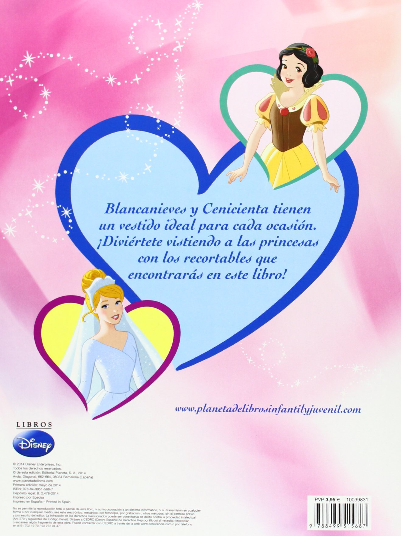 Viste a las princesas. Blancanieves y Cenicienta: Disney: 9788499515687: Amazon.com: Books