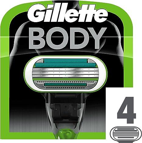 Gillette Body Ricarica di Lame per Rasoio 4 Testine