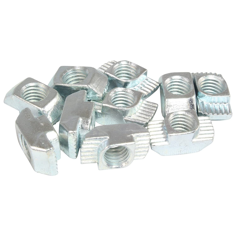 100x Hammermutter Nut 10 M8 Steg 3,0 mm Typ B Stahl verzinkt