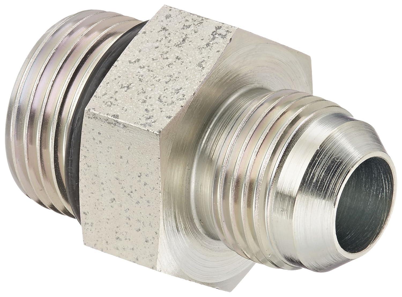 Eaton Aeroquip 202702-4-4S Steel Flared Tube Fitting 1//4 Male JIC x 1//4 O-Ring Boss Male Adapter
