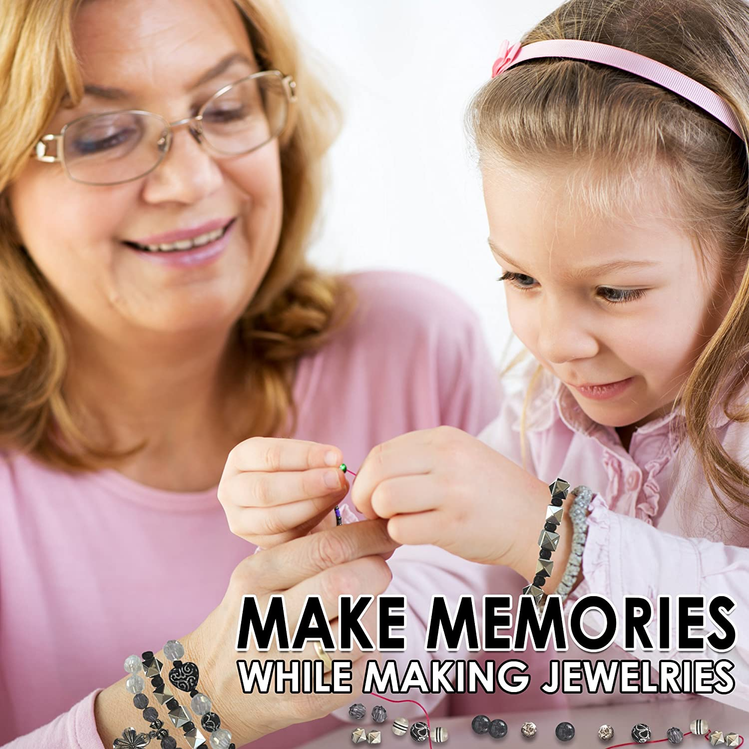 Girls and Teens Will Love Exploring Their Creativity Jewelry Making Kit Everything Included in This Beginners Jewelry kit Directions and Sample Ideas Included with This Blue and Green Bead kit.