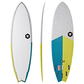 7S Super Fish 3 Carbon Vector - Tabla de surf (6ft6), color amarillo