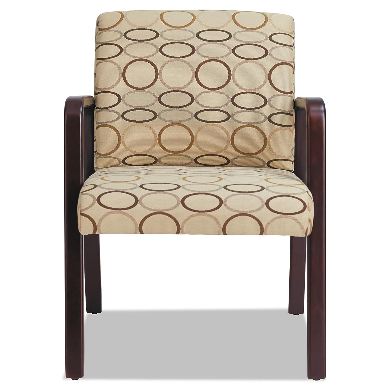 ALERL4351M Alera Reception Lounge Series Guest Chair Mahogany/Black Fabric