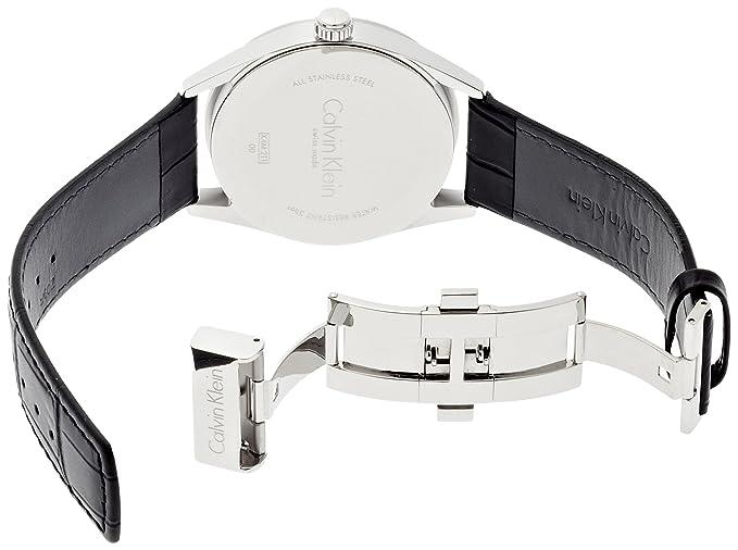 Amazon.com: Calvin Klein K4M211C3 Mens Formality Grey Black Watch: Calvin Klein: Watches