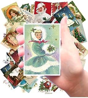 """Stickers 8 pics 2.5/""""x3.5/"""" each FLONZ 441-0147 Vintage Christmas Pictures Santa"""