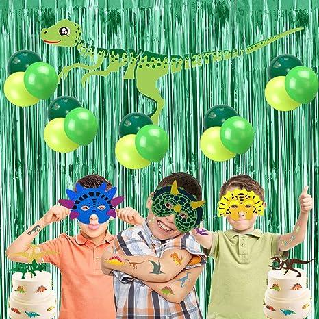 Amazon.com: Decoración de dinosaurios para fiestas de ...