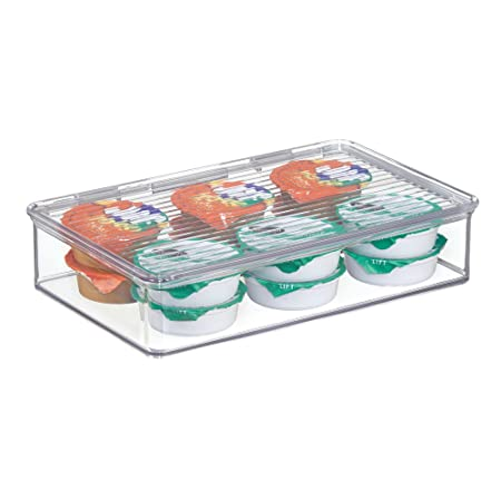 MDesign Stackable Kitchen Storage Containers   Food Storage Containers With  Hinged Lid   For Leftovers,