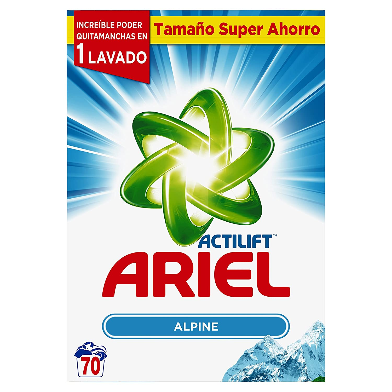 Ariel Frescor de Los Alpes Detergente en Polvo para 70 Lavados - 4,55 kg: Amazon.es: Salud y cuidado personal