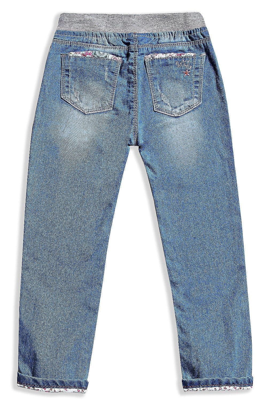 LITTLE-GUEST Little Girls Jeans Kids Clothes Drawstring Waistband Denim Pants G119