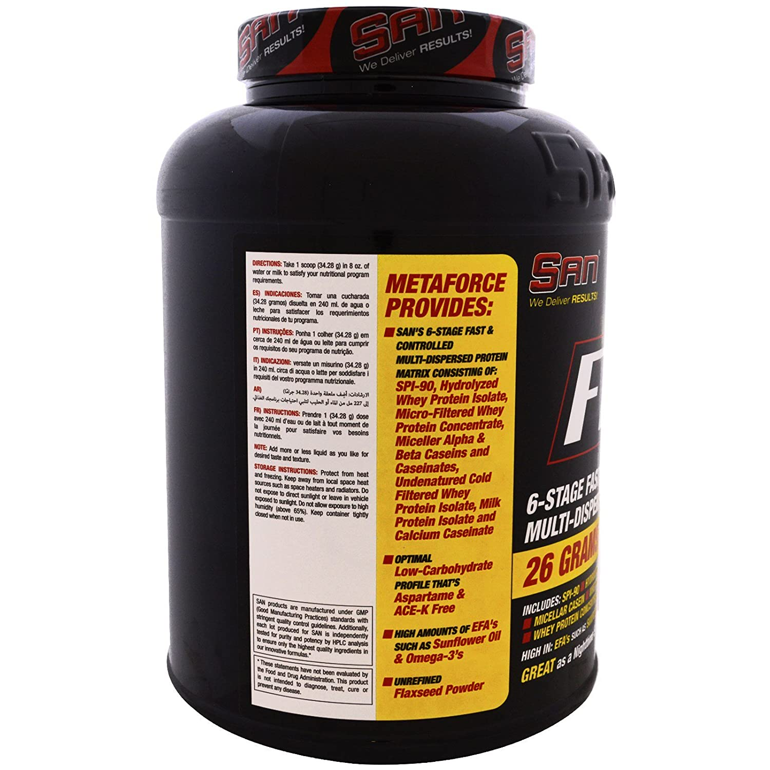 Amazon.com: SAN Nutrition Metaforce 5 0 Chocolate Rocky Road 81 oz 2297 g: Health & Personal Care