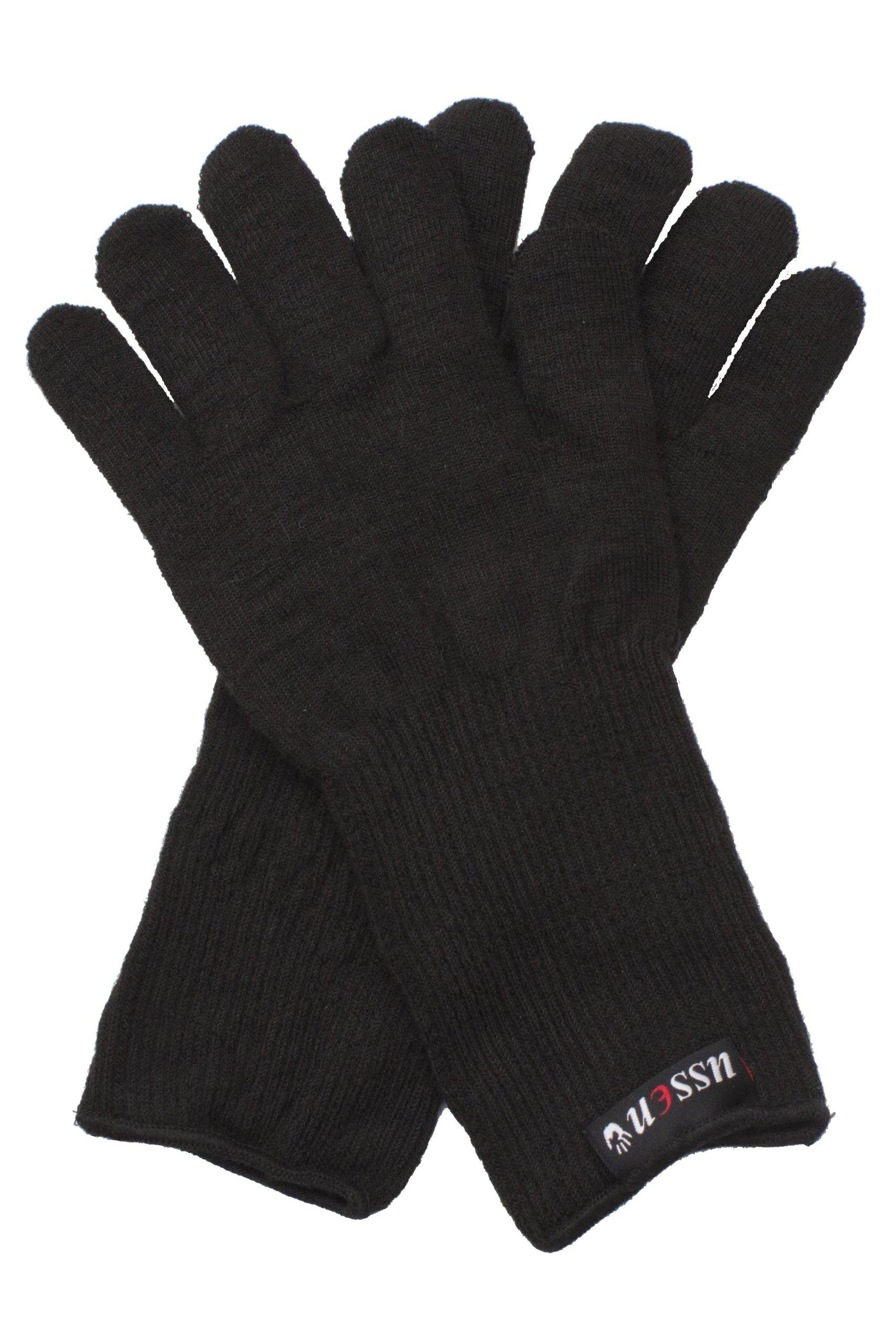 Ussen Men's 1 Pair Flight Gloves One Size Black
