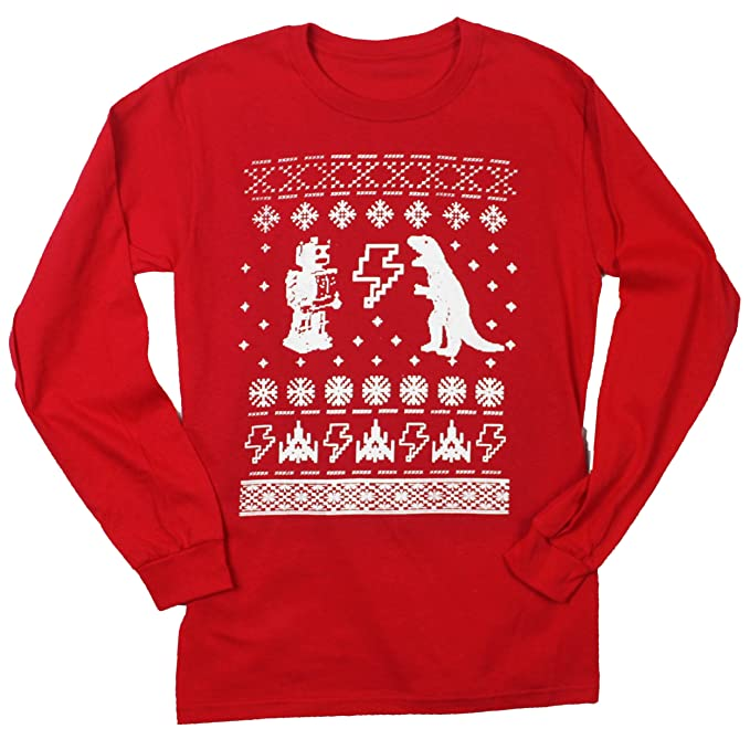 Amazon.com: Happy Family Clothing Geeky Ugly Christmas Sweater ...