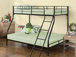 Zinus Hani Easy Assembly Quick Lock Metal Bunk Bed / Quick To Assemble in Under an Hour / Twin over Full
