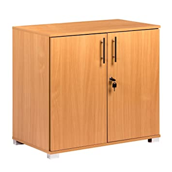 MMT - Armario de almacenamiento y extensión de escritorio de madera de haya: Amazon.es: Oficina y papelería