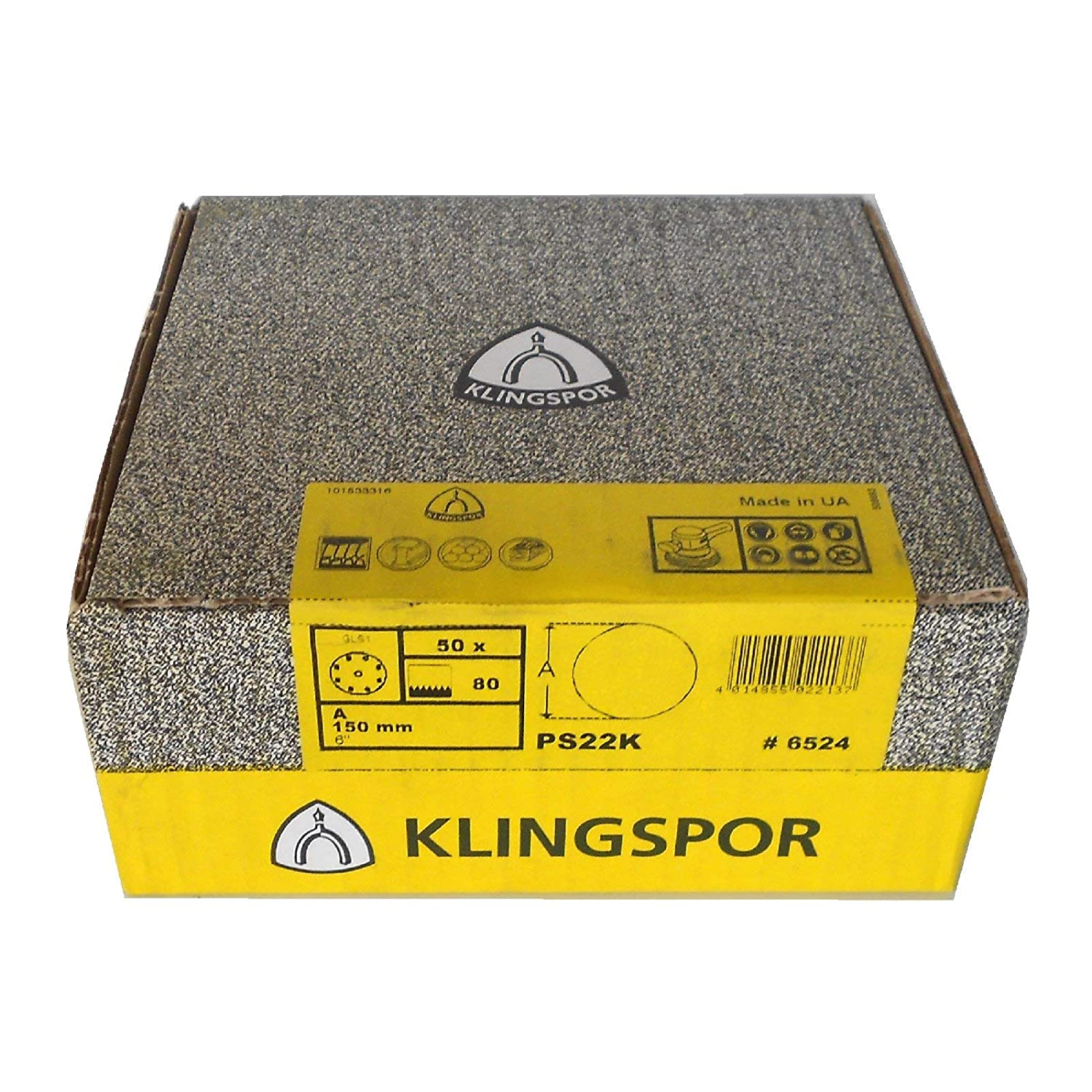 10 GLS 0 Pack of 10 Grit Size: Choice Klingspor PS 18 E Sanding Disc//Self-Adhesive Diameter 250 mm Unperforated
