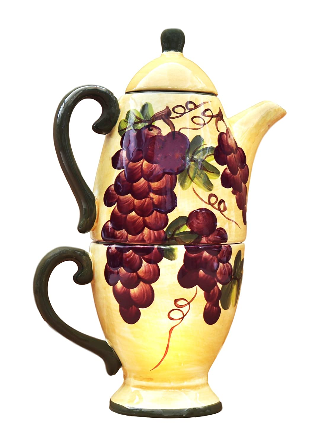 Tuscany Grape TEA POT & CUP For One