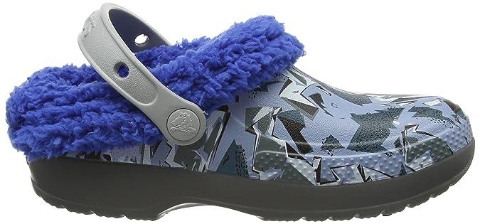 crocs Classic Blitzen III Graphic Kids, Unisex - Kinder Clogs, Grau (Slate Grey/Blue Jean), 23/24 EU