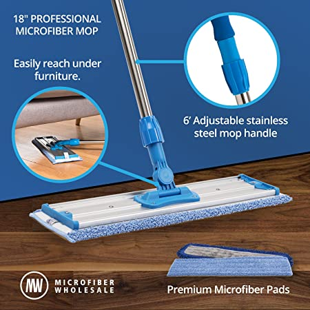 Amazon 18 Professional Microfiber Mop Stainless Steel Handle