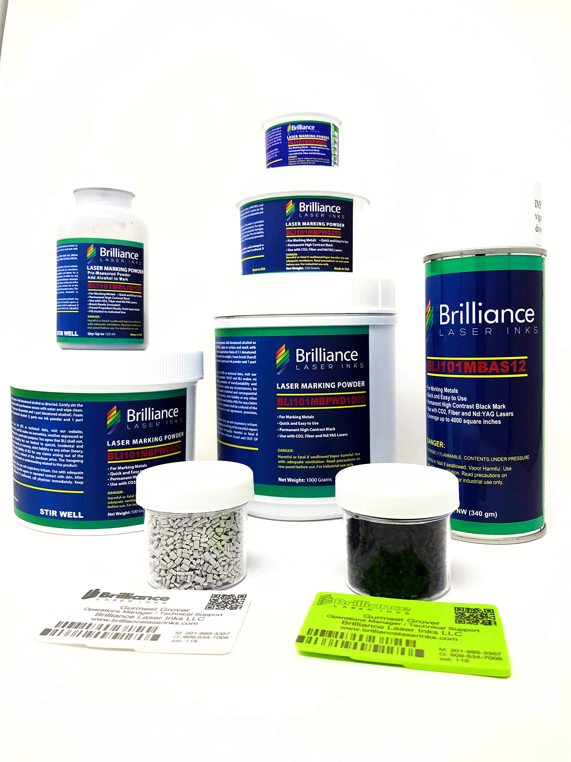Laser Marking Powder-''Brilliance Laser Inks'' -BLI101MBPWD50 Grams- Black Laser Ink Powder for Metals Marking with CO2/Fiber/YAG (50 Grams) by Brilliance Laser Inks (Image #6)