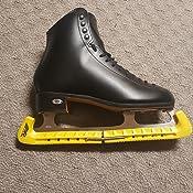 A/&R Custom Adjustable Figure Skate Blade Guard Walk Cover 2 Piece Black