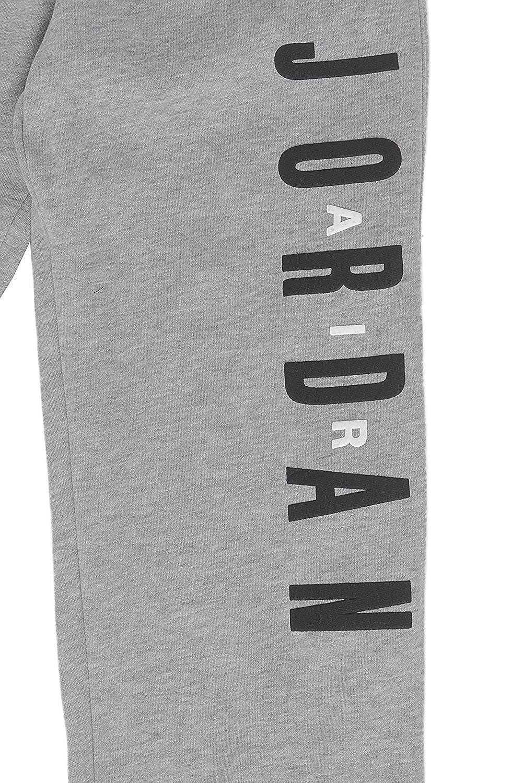 00-8U2MYO-DE Jordan Big Boys Graphic Fleece Sweatpants Dark Grey//Black