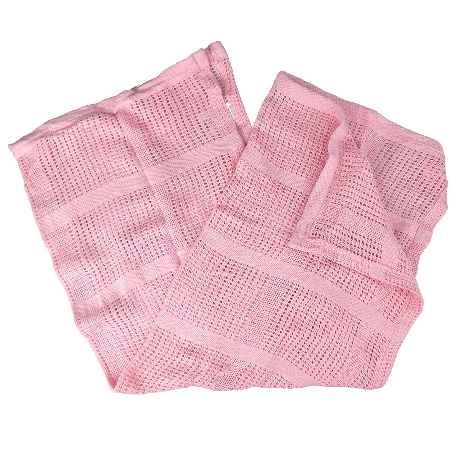 Crib Ideal For Travel Cot Bed for Girls and Boys 100/% Warm Cotton Cellular Pink 2pack Moses Basket Big New Born Baby Blanket 70x90cm Pram Stroller
