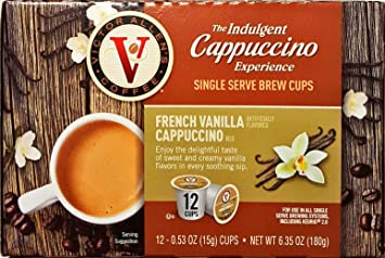 The Indulgent French Vanilla Cappuccino Single Serve Cups - 12 Count