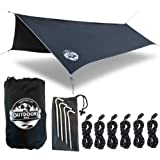 The Outdoors Way Hammock Tarp - 12 Foot Rain Fly for Extreme Waterproof Protection, Large Canopy is Portable and…
