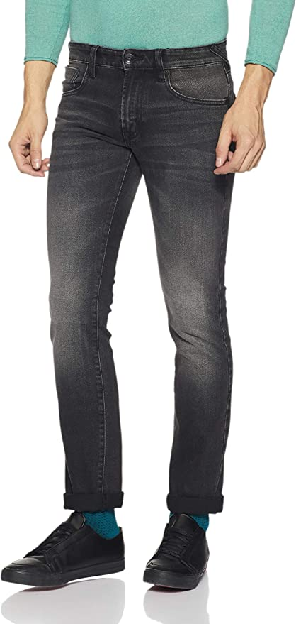 Pepe Jeans Men's Scott Md Straight Fit Stretchable Jeans Men's Jeans at amazon