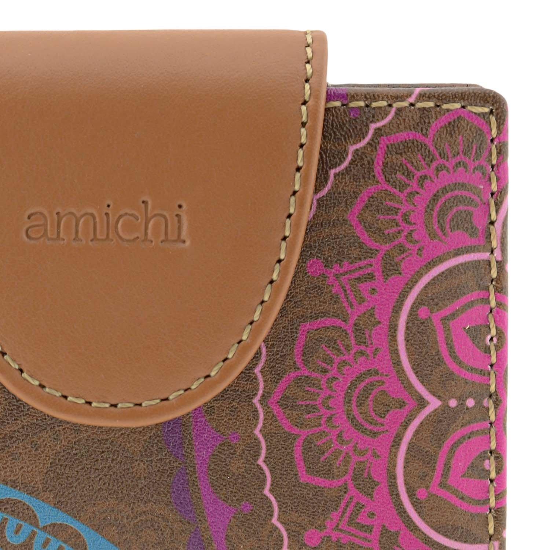 Tarjetero piel Mandalas Amichi Talla: U Color: CUERO: Amazon ...