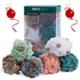 Amazon Price History for:Premium Bath Poufs [6-Pack] - Large Exfoliating Mesh Puff Shower Loofahs w/ Sponges for A More Luxurious Lather - The Best Body Wash Scrub Sponge with Handle - By Savvy Bath