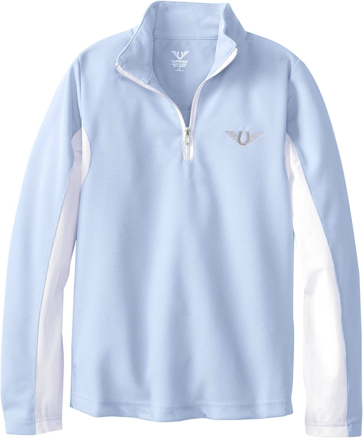 TuffRider Kids Ventilated Technical Long Sleeve Sport Shirt with Mesh