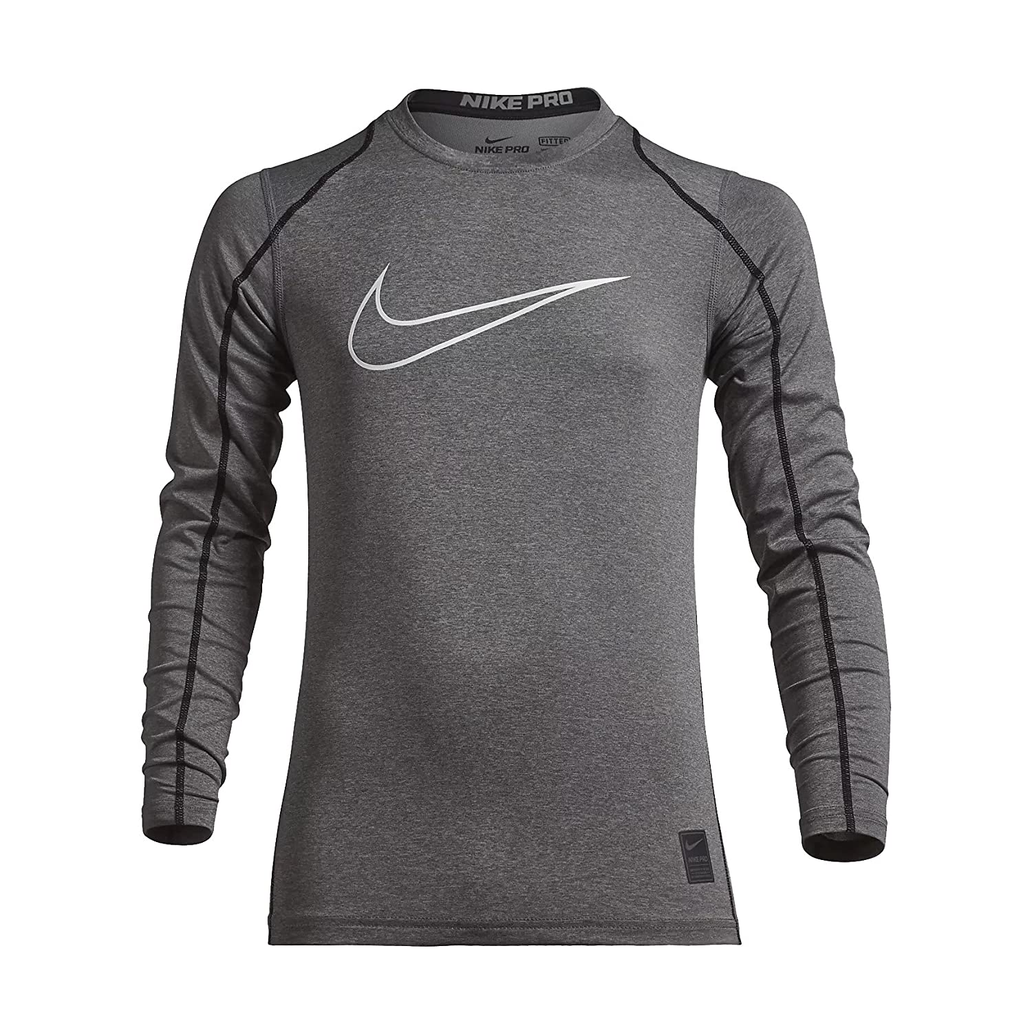 63d516d3 Nike Pro Cool fabric provides a sweat-wicking baselayer to help you feel  cool. Stretch-mesh back insert for ventilation. Flat seams move smoothly  against ...