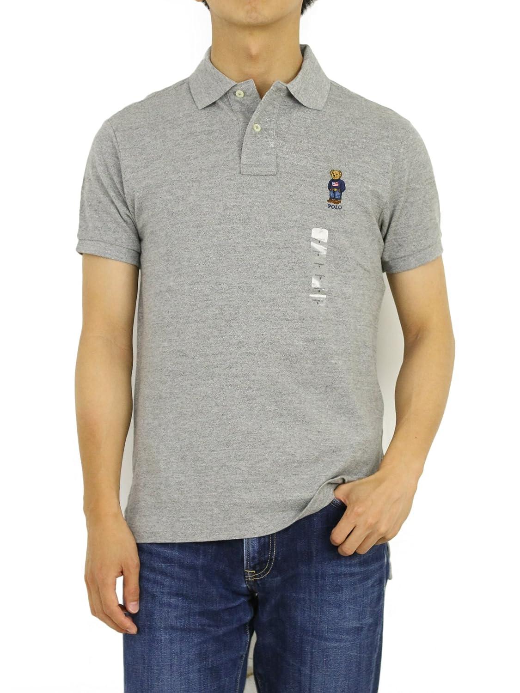 (ポロ ラルフローレン) POLO Ralph Lauren カスタムフィット メンズ ポロベアー刺繍 ポロシャツ ワンポイントPOLO BEAR 0105514 [並行輸入品] B071HL7JQ5  グレー US M (日本L相当)