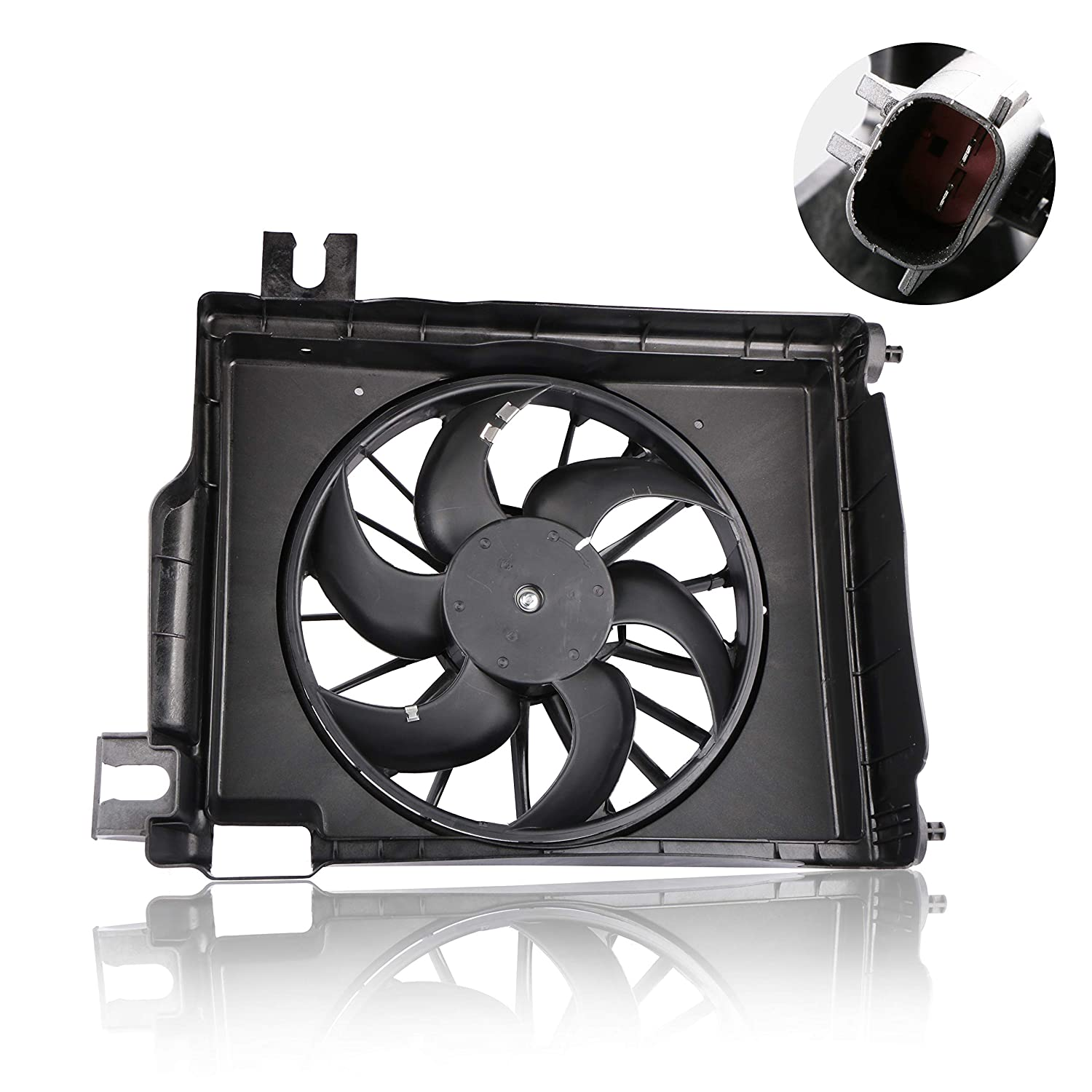 MOSTPLUS AC Condenser Cooling Fan Assembly for Dodge Ram 1500 2500 3500 Pickup CH3113103